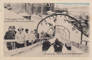 DUFFERIN TERRACE, Quebec, Canada, 1910-20s; Tobaggan Slide