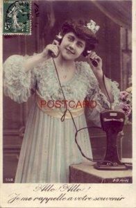 1909 ALLO ALLO ! te me rappelle a votre souvenir - woman on telephone