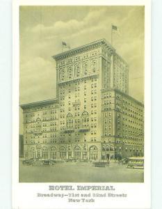 Unused 1930's IMPERIAL HOTEL New York City NY hr9961