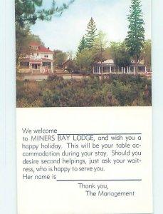 Pre-1980 LODGE SCENE Minden - Near Haliburton & Kawartha Lakes Ontario ON AE0499