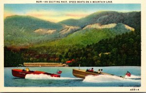 North Carolina Speed Boats On A Mountain Lake