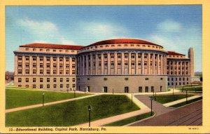Pennsylvania Harrisburg Capitol Park Educational Building Curteich