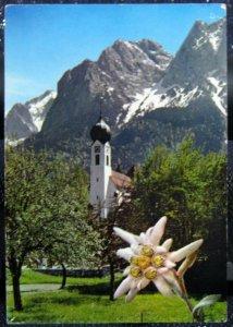 Germany Zugspitzdorf Grainau Kirche mit Grossem - posted 1976