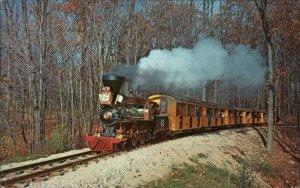 Miniature RR Train Milwaukee WI County Zoo Postcard