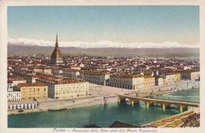 Italy Torino Panorama della Citta visto dal Monte Cappuccini