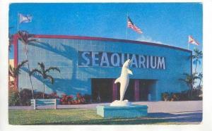 SEAQUARIUM, Dolphin Statue, Miami, Florida PU-1958