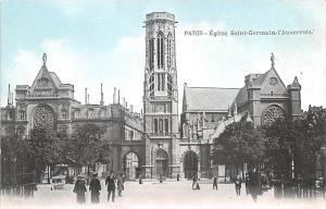 Paris France Eglise Saint Germain I'Auxerrois Paris Eglise Saint Germain I'Au...