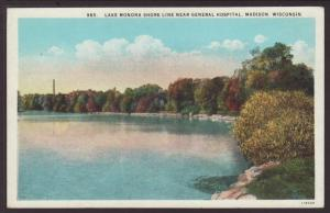 Lake Monona Shore Line,Madison,WI Postcard
