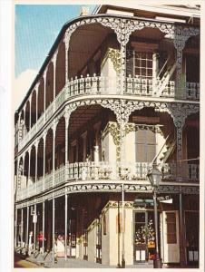 Louisiana New Orleans Lace Balconies On Royal & St Peter Streets