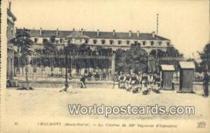 Chaumont, France, Carte, Postcard La Caserne du 109 Regiment d'Infanterie Cha...