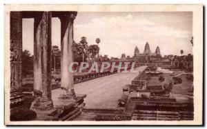 Postcard Ancient Ruins D & # 39Angkor Vue Generale Cambodia