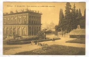 R.Palazso Pitti, Parte posteriore con veduta della Cattedrale,Firenze, Italy,...