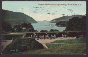 Siege Battery,West Point,NY Postcard