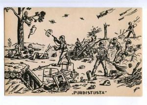 190563 WWII FINLAND Caricature STALIN SAMOVAR ANTI-RUSSIAN Old