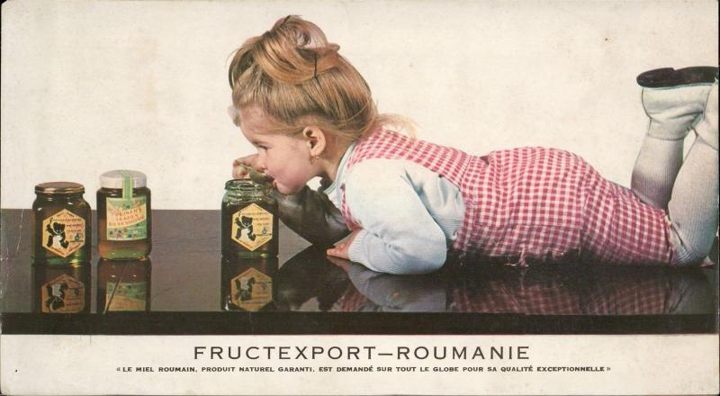 Fructexport Roumanie advertise Miel d'Abeille reclam atypical