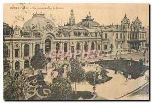 Old postcard Monte Carlo Panoramic view of the Casino
