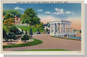 Plymouth, Massachusetts/Mass/MA Postcard, Coles Hill/Portico, Near Mint!