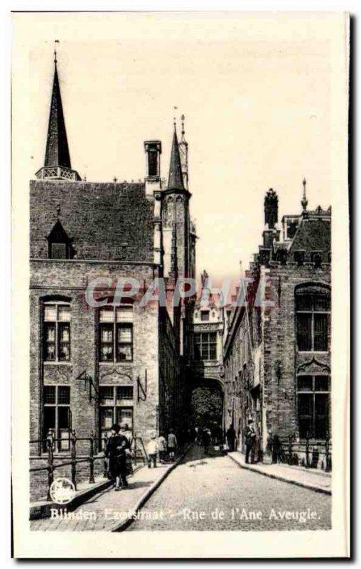 Postcard Modern Bruges Street, I & # 39Ane Blind