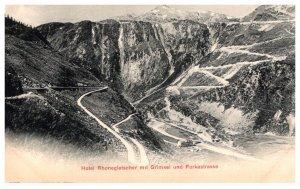 Switzerland  Hotel Rhonegletscher mit Grimsel und Furkastrasse