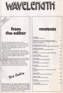 Wavelength Kenny Everett Pirate Radio Enthusiasts 1970s Magazine