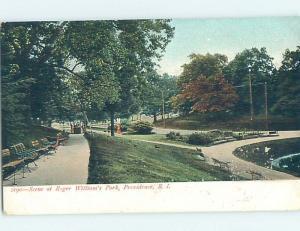 Pre-1907 PARK SCENE Providence Rhode Island RI H4075