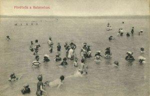 hungary, FÜRDÖZÖK, Balatonban, Swimming Swim Suits (1910s) Postcard