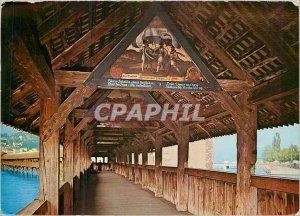 Postcard Modern Lucerne Chapel Bridge Chapel Bridge
