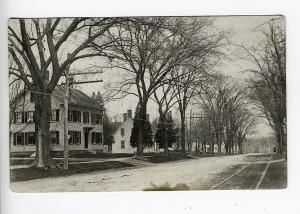 Elmwood MA Dirt Street View Trolley Tracks 1920 RPPC Real Photo Postcard