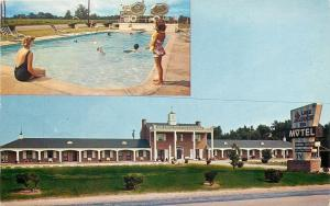 Summerton SC~Lake Marion Inn~Bathing Beauties @ Swimming Pool 1950s