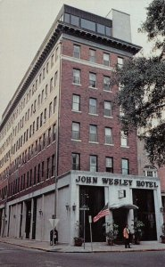 Savannah Georgia~John Wesley Hotel~Bell Hop With Suitcase Out Front~1970s PC