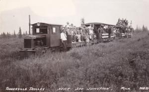 RP: Miniature Train TONNERVILLE TROLLY , Soo Junction , Michigan , PU-1940