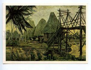 238518 Ardimasov CUBA Indian village Guam old russian postcard