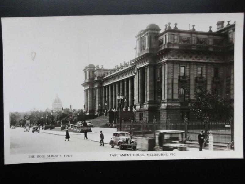 Australia: MELBOURNE Parliament House Old RP PC