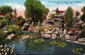 Minnesota Albert Lea Christiansen's Rock Gardens The Pool 1938