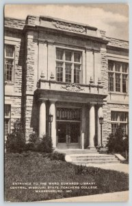 Warrensburg MO~Central State Teacher's College~Edwards Library Close Up~1930s