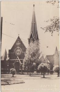 Illinois Il Real Photo RPPC Postcard 194 ARCOLA St Johns Catholic Church