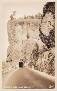 Oregon Columbia River Highway Oneonta Bluff & Tunnel Real Photo RPPC