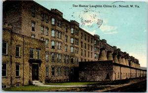 Newell, West Virginia Postcard Homer Laughlin China Co. Factory Building 1912