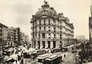 NY - New York City, 1887. The Old Post Office at Broadway & Park Avenue (Repro)