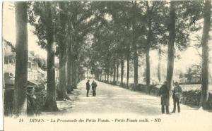 France, Dinan, La Promenade des Petits Fosses, early 1900...