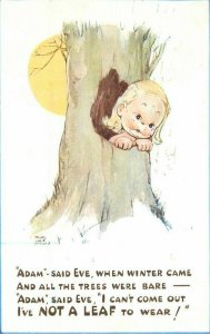 Mable Lucie Atwell Comic Humor Adam Exe Valentine & Sons Postcard 21-5914