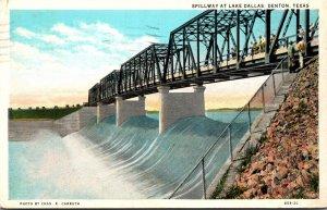 Texas Denton Spillway At Lake Dallas 1931 Curteich