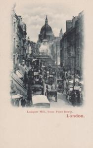Nestles Milk Horse & Cart in Ludgate Hill London Vintage Advertising Postcard