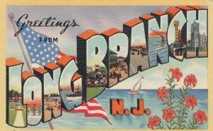 Large Letter LONG BEACH , N.J. , 30-40s