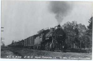 RPPC Kansas City Southern #519 2-8-0 Steam Locomotive near Forbing, Louisiana,