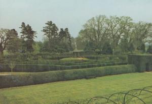 Lowestoft Maze Garden Puzzle Somerleyton Hall Suffolk Postcard