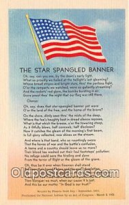 Star Spangled Banner Flag Unused