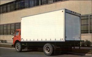 Fruehauf's Volume Van Panel Truck - Postcard