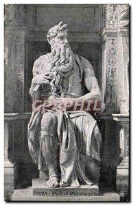 Old Postcard Roma Mose di Michelangelo