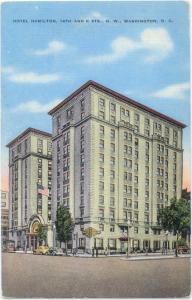 Linen of Hotel Hamilton  14th & K Sta. Washington DC
